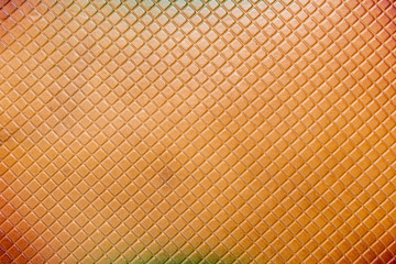 Pressed info a leather pattern