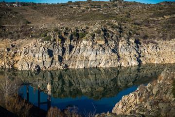 Pantano de Ricobayo , embalses de agua Zamora España