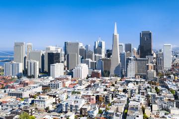 San Francisco Stadtzentrum und Skyline, Kalifornien, USA