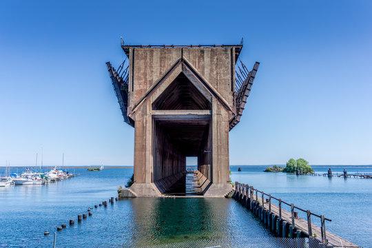 Historical Lower Harbor Ore Dock in Marquette Michigan