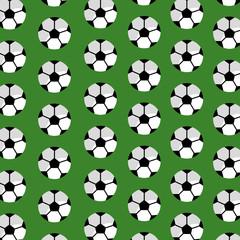 seamless pattern soccer ball sport club vector illustration