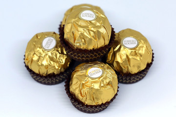Ferrero Rocher chocolates are seen, in this picture illustration