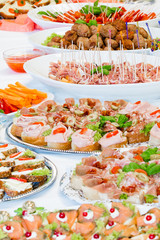 buffet and party