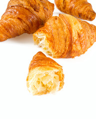 fresh croissant isolated