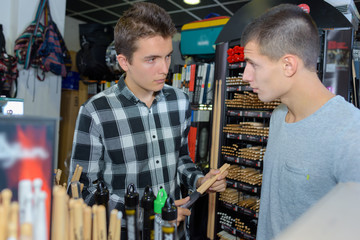 young men in the drumstick boutique