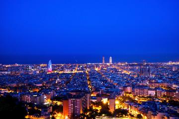 Fotomurales - Barcelona skyline, Spain