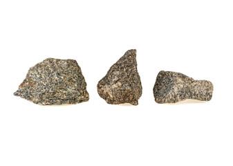 three stones, granite isolated on white background
