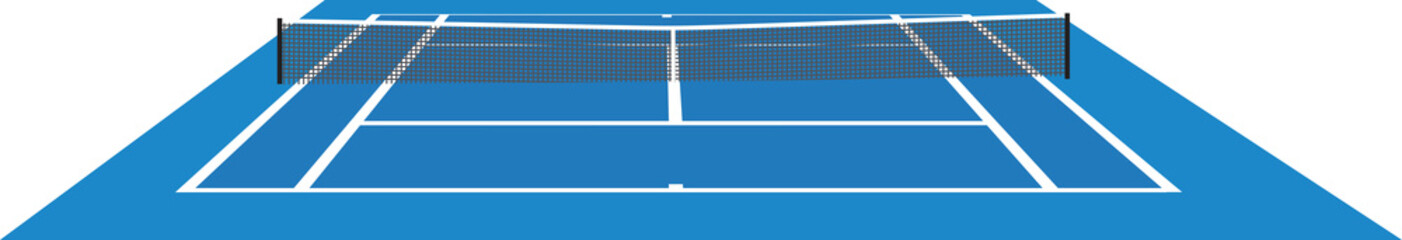 Blue tennis court. vector illustration