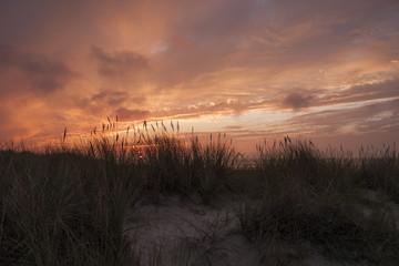 Sonnenuntergang am der Küste