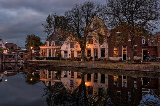 Old historic village center of Spaarndam, The Netherlands.