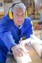 industry carpenter doing his work