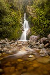 New Zealand West Coast Waterfall