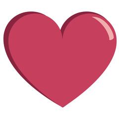 Vector cute kawaii heart colorful isolated