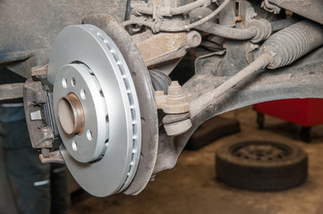 brake disc / replacement of the brake disc at an authorized service center