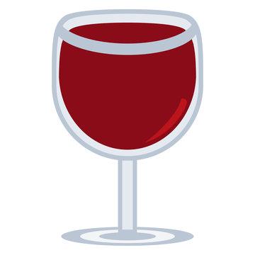 Vector cute kawaii wine glass colorful isolated