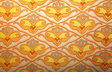crimean tatar colorful ornament wall background