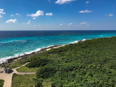 Coastline of Cozumel Mexico