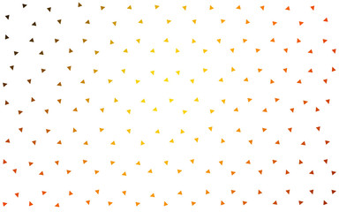 Dark Orange vector abstract pattern made up of colored triangles on white background.
