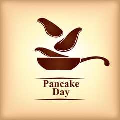 Pancake day greeting card