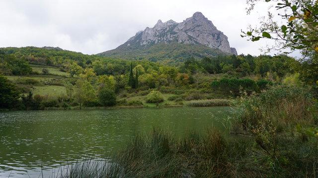 Mountain lake hiding