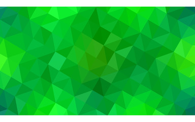 Light Green vector abstract perspective background.