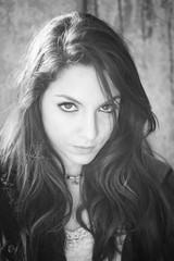 Monochrome brunette portrait