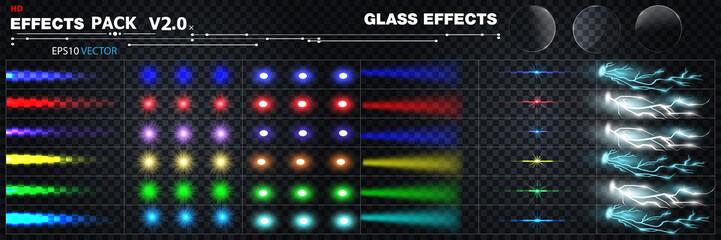 Obraz big set of effects - fototapety do salonu