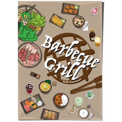 menu barbecue grill restaurant template design graphic objects
