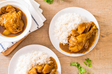 Chicken Massaman Curry Paste with Rice