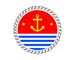 circle anchor icon hook navy marine symbol image