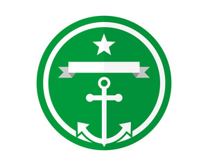 green anchor hook navy marine harbor port symbol icon image