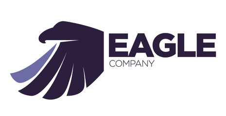 Eagle bird or fantasy logo template for security or innovation company.