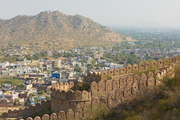 Thick walls surrounding a city