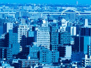 Fototapete - 東京の都市景観