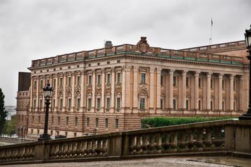 Riksdag Parliament Building in Stockholm