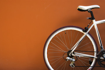Printed roller blinds Bicycle Parking bike for relax.