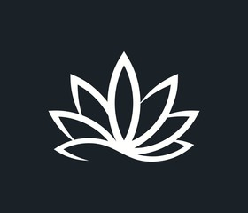cannabis logo icon. simple vector element