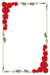 赤いバラのフレーム 縦