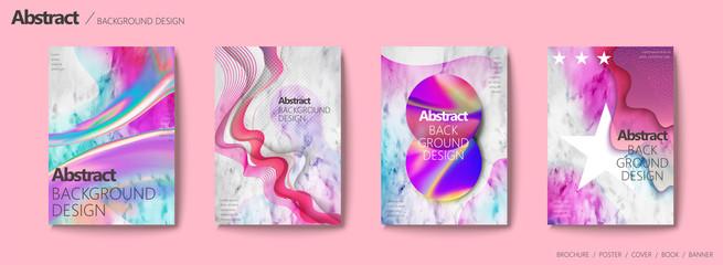 Fluid liquid style brochure