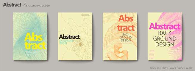 Futuristic style brochure set