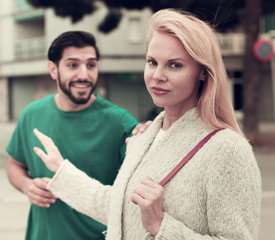 Husband and wife are emotional quarreling