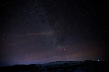 Die Milchstraße über den nächtlichen Island