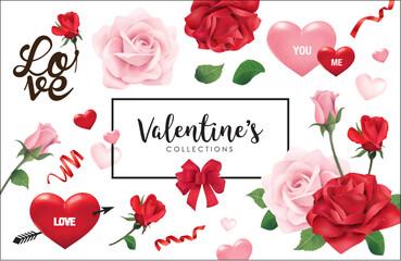 Set of Valentine's day design elements