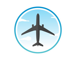 morning sky plane airport flight airline airway image symbol icon