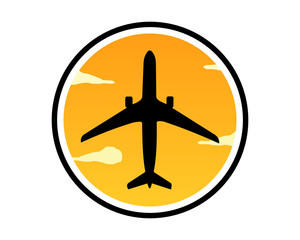 dusk plane airport flight airline airway image symbol icon
