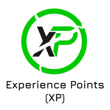Experience Points (XP). Vector illustration crypt