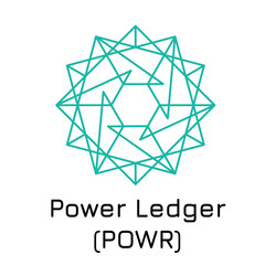 Power Ledger (POWR). Vector illustration crypto c