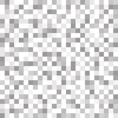 Abstract geometric gray and white pattern background with mesh of squares. Mosaic. Geometry template.
