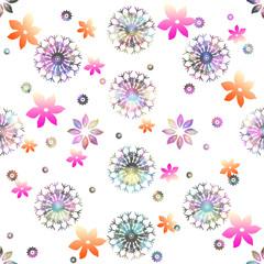 雪と花の模様