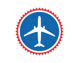 blue circle plane airport flight airline airway image symbol icon